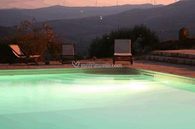 Notturno piscina