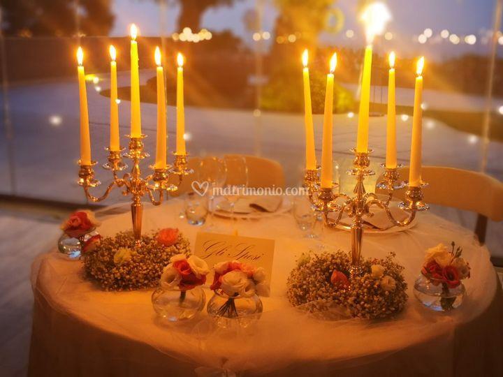 Centratavola candelieri