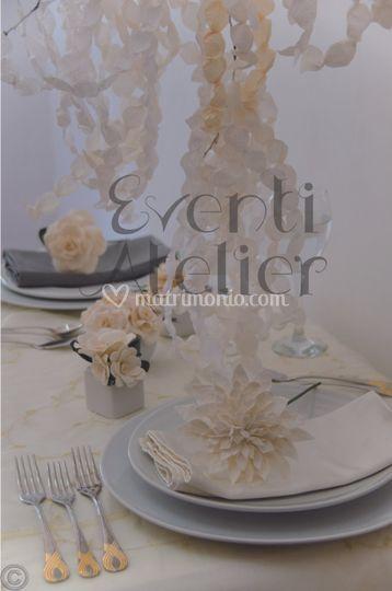 Allestimento tavolo sposi