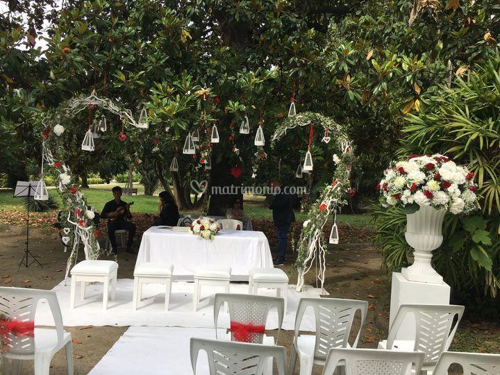Matrimonio in villa comunale