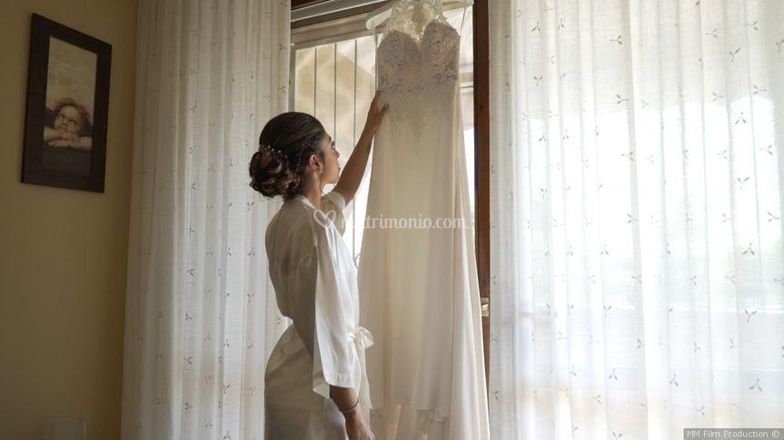Sposa con l'abito