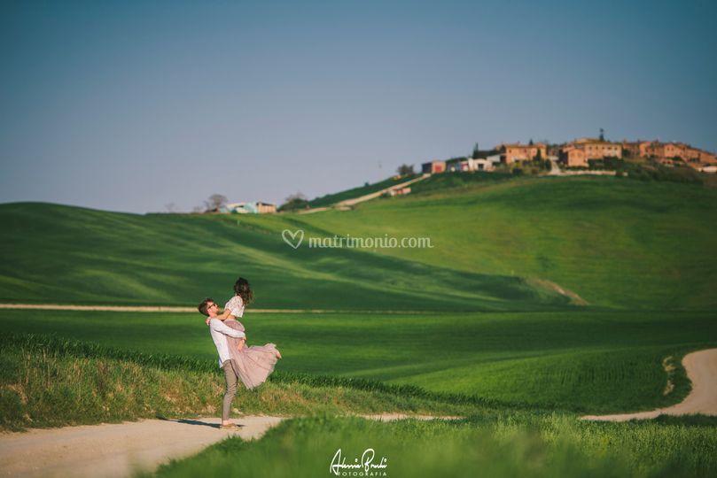 Engagement Photo in Tuscany