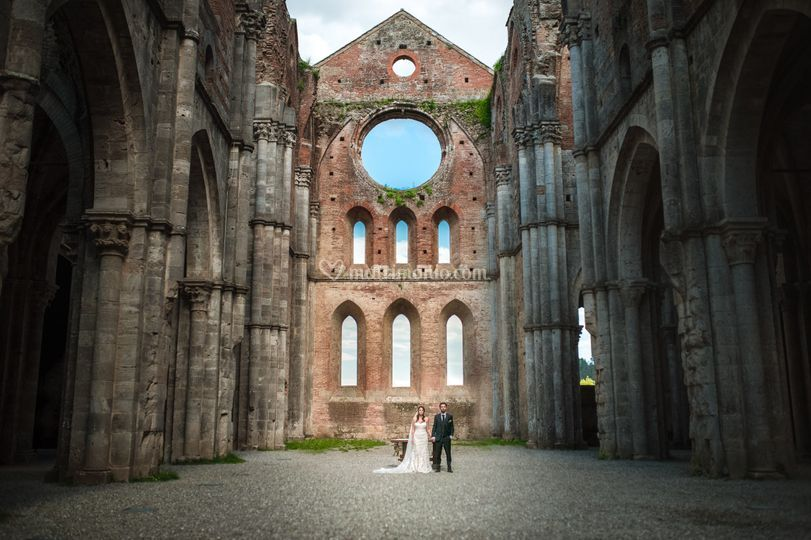 Wedding in San Galgano Abbey