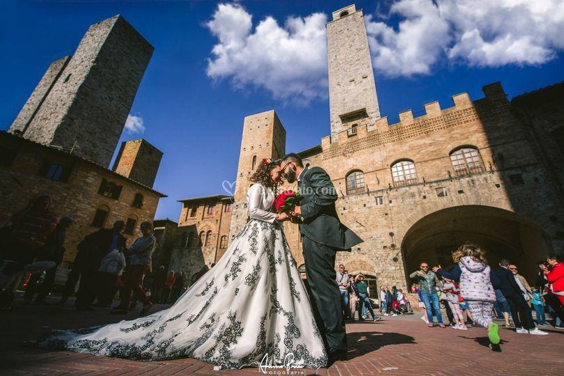 Wedding in Sangimignano