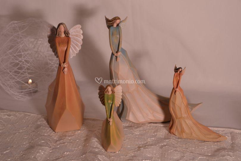 Angeli in resina