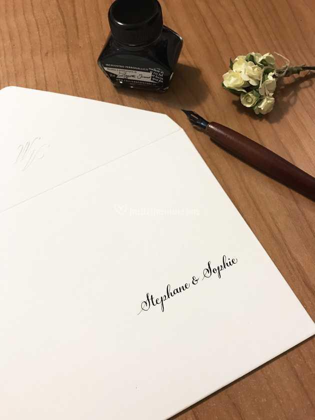 Intestazione Partecipazioni Matrimonio.Servizio Intestazione Busta Di Federica Letters Foto 1