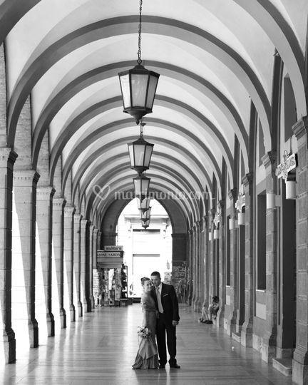 Sposi in  via roma