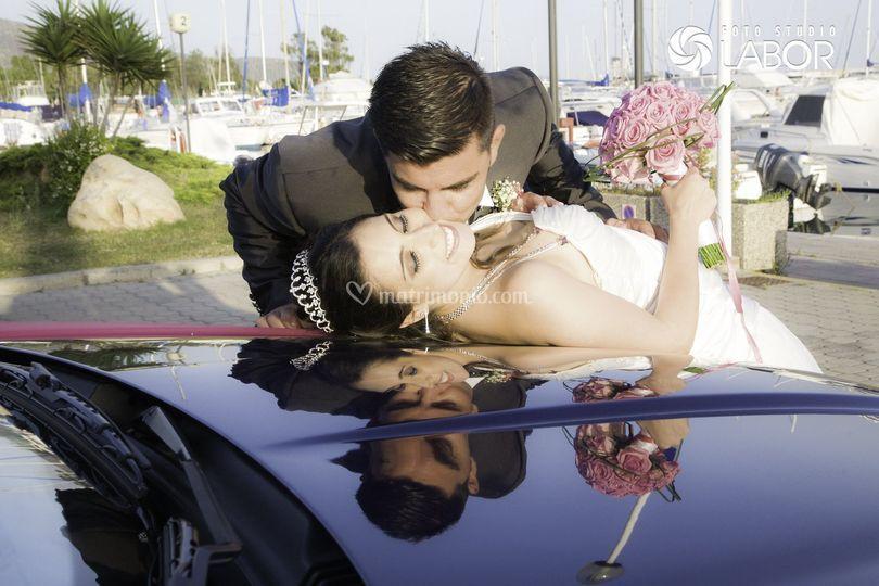 Foto auto per sposi