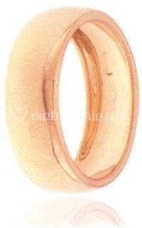 Fedina oro rosé 7 mm