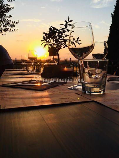 Tavoli al tramonto...