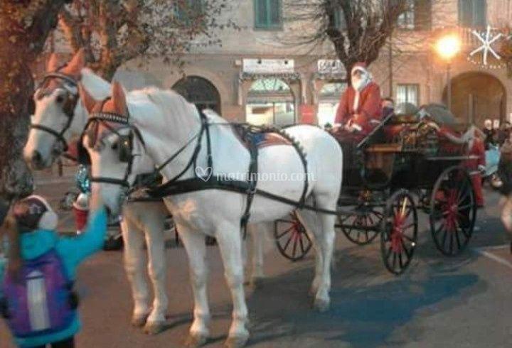 Carrozza con tema natalizio