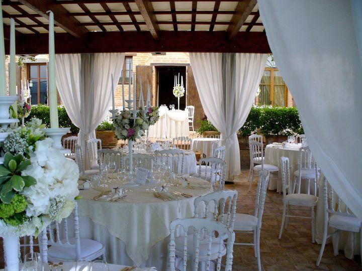 Tavoli sedie bianche 2