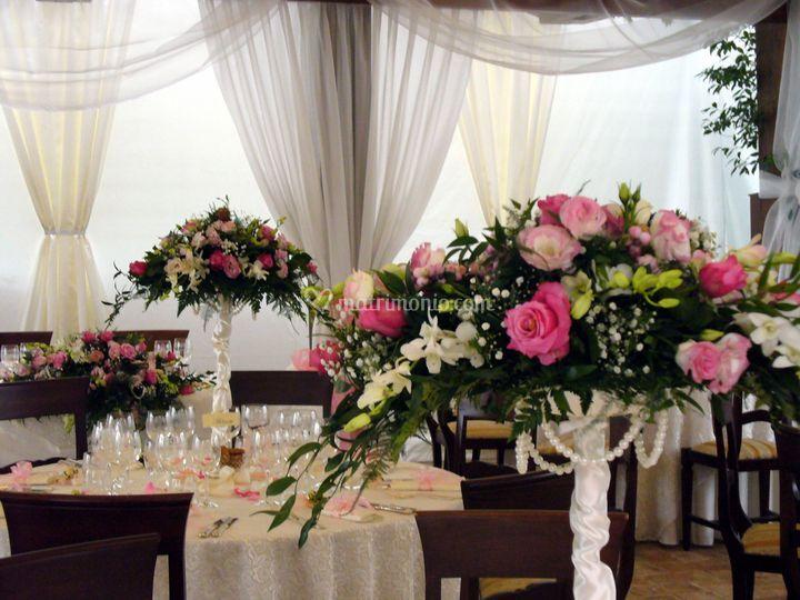 Tavoli in rosa