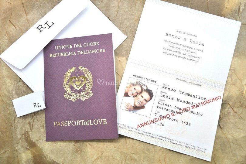 Passaporto con foto sposi