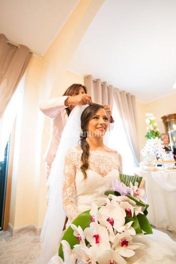 Sposa coda laterale morbida
