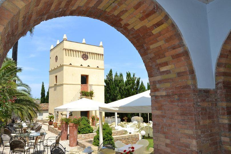 Scorcio portico storico
