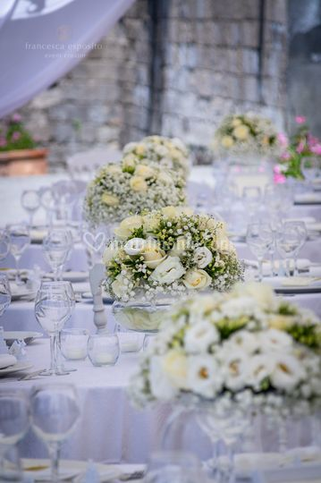 Total white wedding details