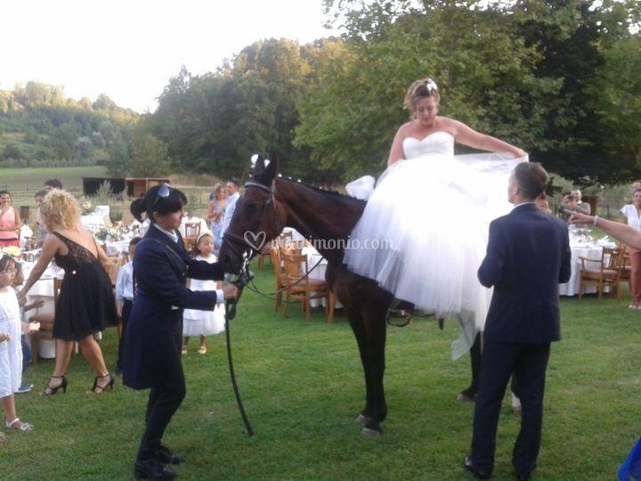 Ingresso sposa a cavallo