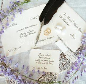Partecipazioni nozze 'Carta Amalfi'