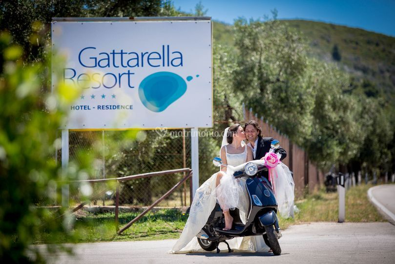 Matrimonio in Vespa