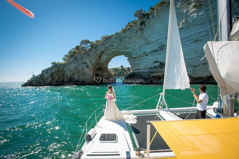 Matrimonio in Catamarano