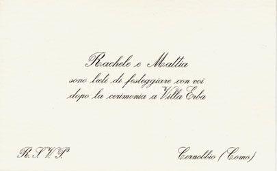 Invito in litografia