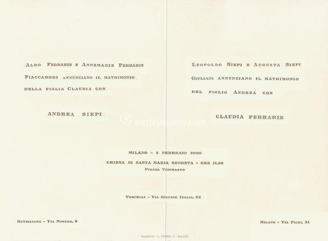Partecipazione in tipografia