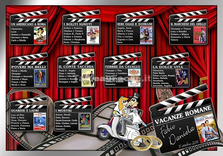 Tableau mariage cinema