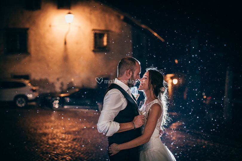 Brindisi sotto la pioggia