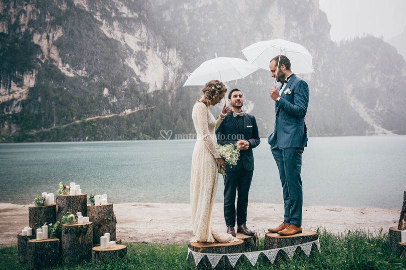 Bride and Groom Lago di Braies