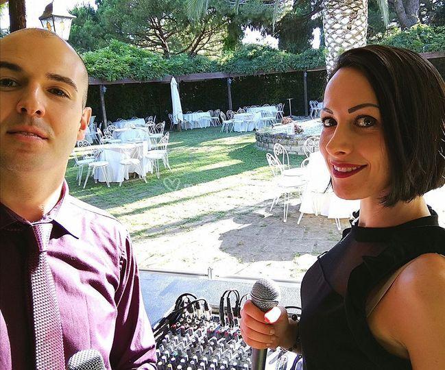 Duo cantanti uomo e donna