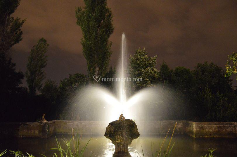 Illuminazione della fontana