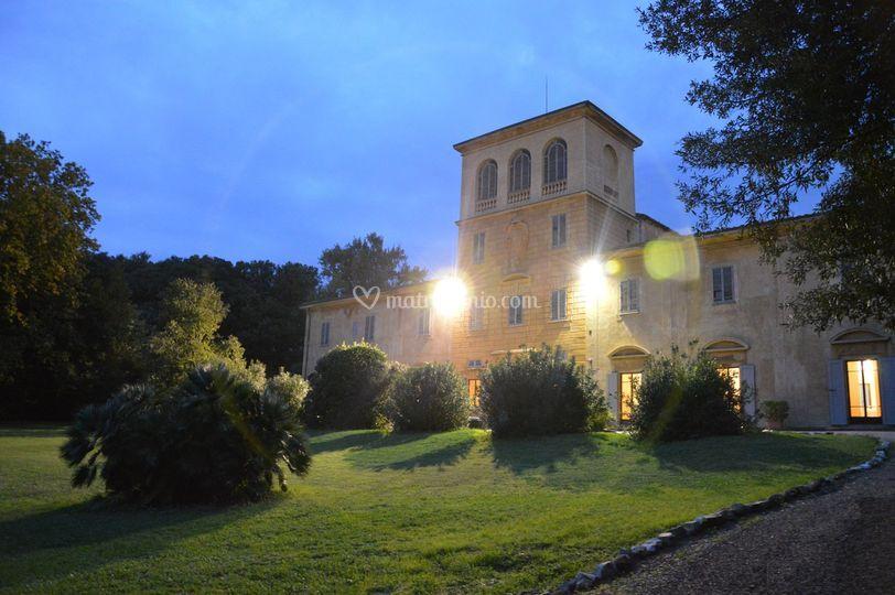La villa al crepuscolo