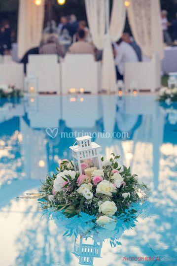 La piscina decorata