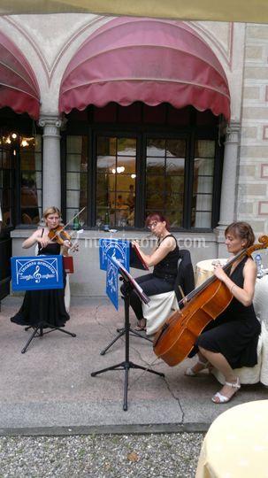 Flauto, violino e violoncello