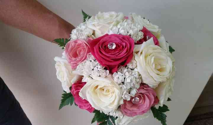Bouquet rose rosa e bianche