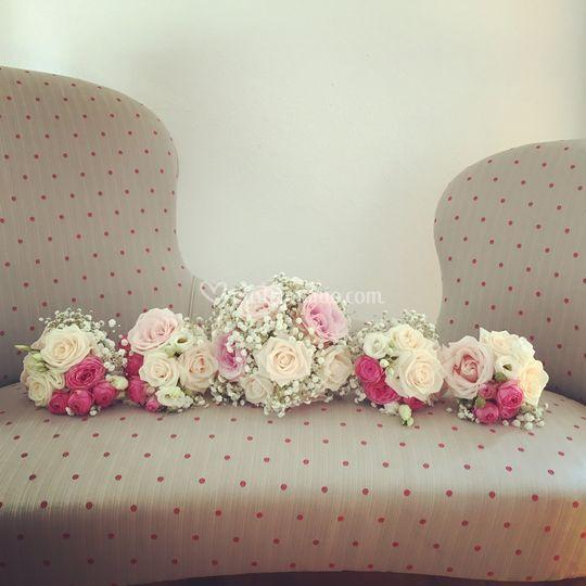 Bouquet sposa e damigelle