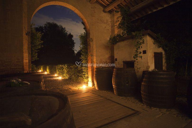 Notturno portico: dettaglio
