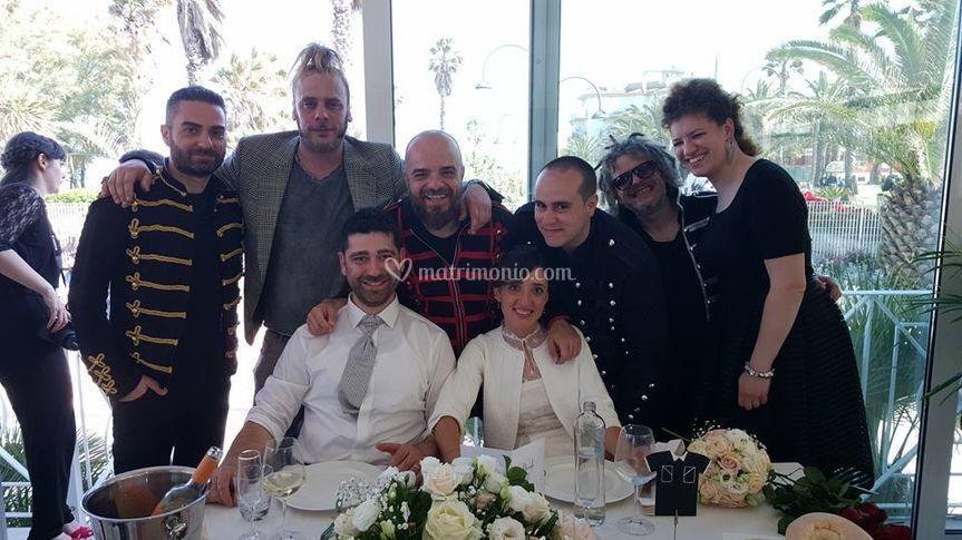 Foto con gli sposi