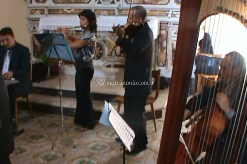 Organo, arpa, violino, violoncello, flauto, tenore e soprano