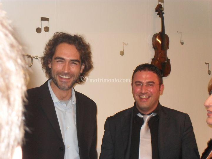 M° Francesco Schiattarella con Sergio Muniz