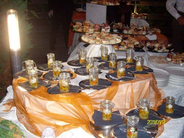 Particolare buffet antipasti