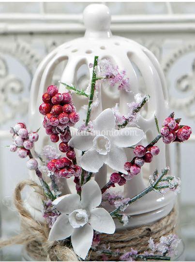 Portacandele in porcellana