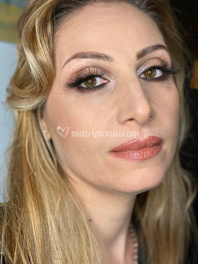 Make-up dai toni del marrone