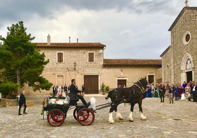 Sposa in carrozza