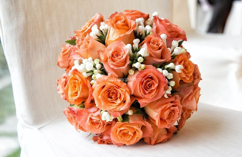 Bouquet sferico rose
