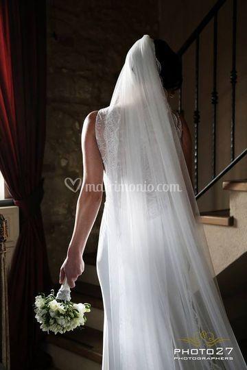 Ns sposa velo in tulle di seta
