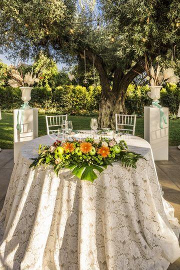 Tavolo sposi sotto Ulivo