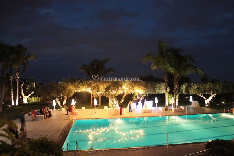 Il parco di sera