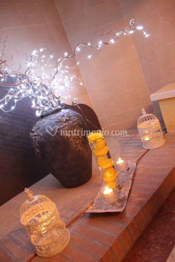 Allestimento candele e limoni